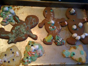 sugar and gingerbread after kids' decorated