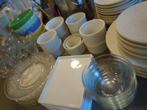Dishes during the process